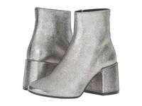 Maison Martin Margiela Crackle Metallic Bootie Platinum Laminated Leather Women's Boots Silver