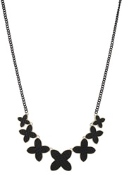 Anna Field Necklace Gold Black