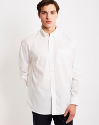 The Idle Man Long Sleeve Oxford Shirt White
