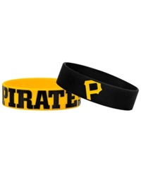 Forever Collectibles Pittsburgh Pirates Wide Bracelet 2 Pack Team Color