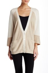 Lulu Colorblock Cardigan Beige