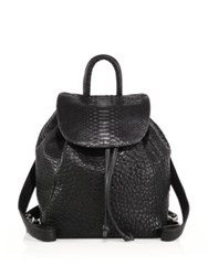 Mr. Parker Bubble Leather And Python Backpack Black