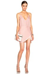 Mason By Michelle Mason Contrast Slip Dress In Pink