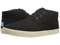 Toms Paseo Mid Black Canvas Men's Lace Up Casual Shoes