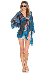 Lotta Stensson Mother Earth Poncho Top Blue