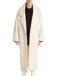 Apiece Apart Oversized Vida Wool Boucle Coat Ivory