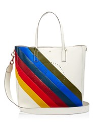 Anya Hindmarch Rainbow Smiley Featherweight Ebury Leather Tote Multi
