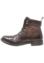 Mjus Hal Laceup Boots Cacao Dark Brown