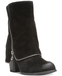 Fergalicious Tillie Foldover Booties Women's Shoes Black
