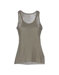 40Weft Topwear Vests Women Military Green