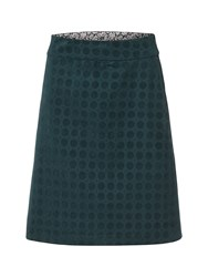 White Stuff Daisy Velvet Skirt Green
