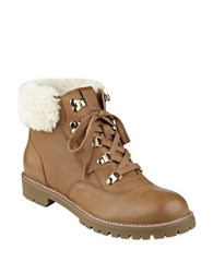 Tommy Hilfiger Tucker Faux Fur And Leather Booties Tan