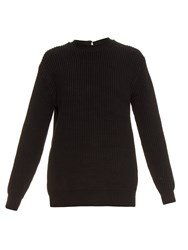 Alexander Wang Open Back Ribbed Knit Sweater
