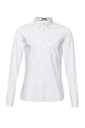French Connection Men's Dunite Dot Stripe Printed Shirt White