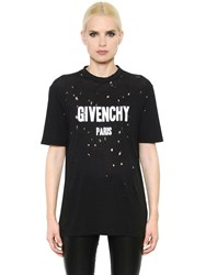 Givenchy Oversize Destroyed Cotton Jersey T Shirt