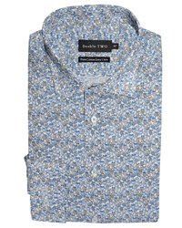 Double Two Patterned Formal Shirt Blue