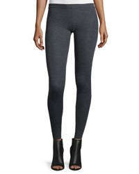 Alice Olivia Ronnie Ribbed Wool Leggings Charcoal