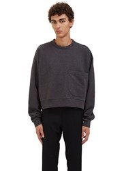 Von Sono Oversized Cropped Sweater Grey