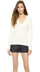 Torn By Ronny Kobo Mirta Sweater White