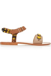 Sanchita Embellished Leather Sandals