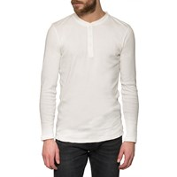 Edwin Off White Henley Long Sleeve T Shirt