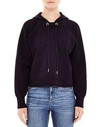 Sandro Keira Pullover Hoodie Navy