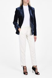 3.1 Phillip Lim Women S Velvet Jacket Boutique1 Navy