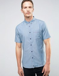 Element Cooper Short Sleeved Shirt Blue