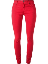 Burberry Brit Skinny Jeans Red