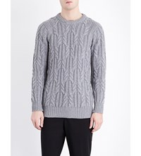 Pringle Crewneck Cashmere Jumper Grey Melange