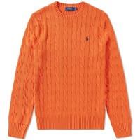 Polo Ralph Lauren Cable Crew Knit Orange
