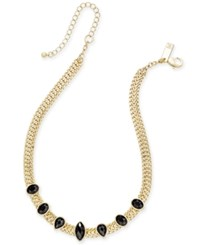 Inc International Concepts Gold Tone Black Crystal Choker Necklace Only At Macy's Jet