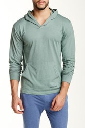 Bottoms Out Basic Hoodie Green
