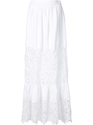 Sea Long Cut Out Skirt White