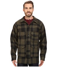 Filson Mackinaw Cruiser Extra Long Otter Green Black Men's Coat Multi