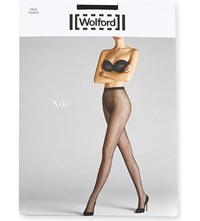 Wolford Nele Geometric Knit Tights Black