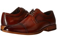 Stacy Adams Dickinson Cap Toe Oxford Cognac Men's Lace Up Cap Toe Shoes Tan