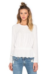 Bishop Young Pintuck Drop Waist Blouse White