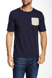 United By Blue Pattern Pocket Short Sleeve Tee Blue