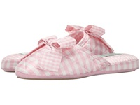Patricia Green Silk Check Pink 1 Women's Slippers