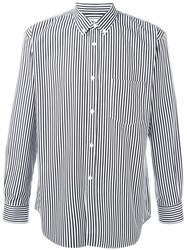 Comme Des Gara Ons Shirt Button Down Collar Striped Shirt Black