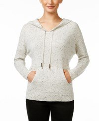 Charter Club Cashmere Donegal Hoodie Only At Macy's Heather Crystal