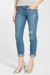 Halogen R Distressed Girlfriend Jeans Regular And Petite Blue