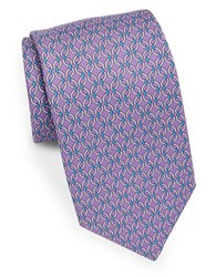 Brooks Brothers Classic Patterned Silk Tie Purple