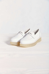 F Troupe Wedge Loafer White