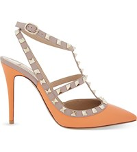 Valentino Rockstud 100 Leather Courts Peach