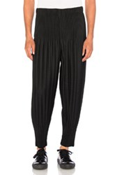 Homme Plisse Issey Miyake Pleated Long Trousers In Black