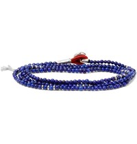 Isaia Saracino Bead And Silver Wrap Bracelet Blue