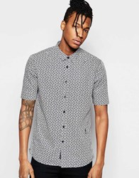 Religion Print Short Sleeved Shirt With Print Navy