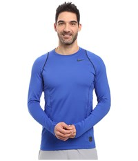 Nike Pro Hyperwarm Long Sleeve Training Top Game Royal Black Black Men's Clothing Blue